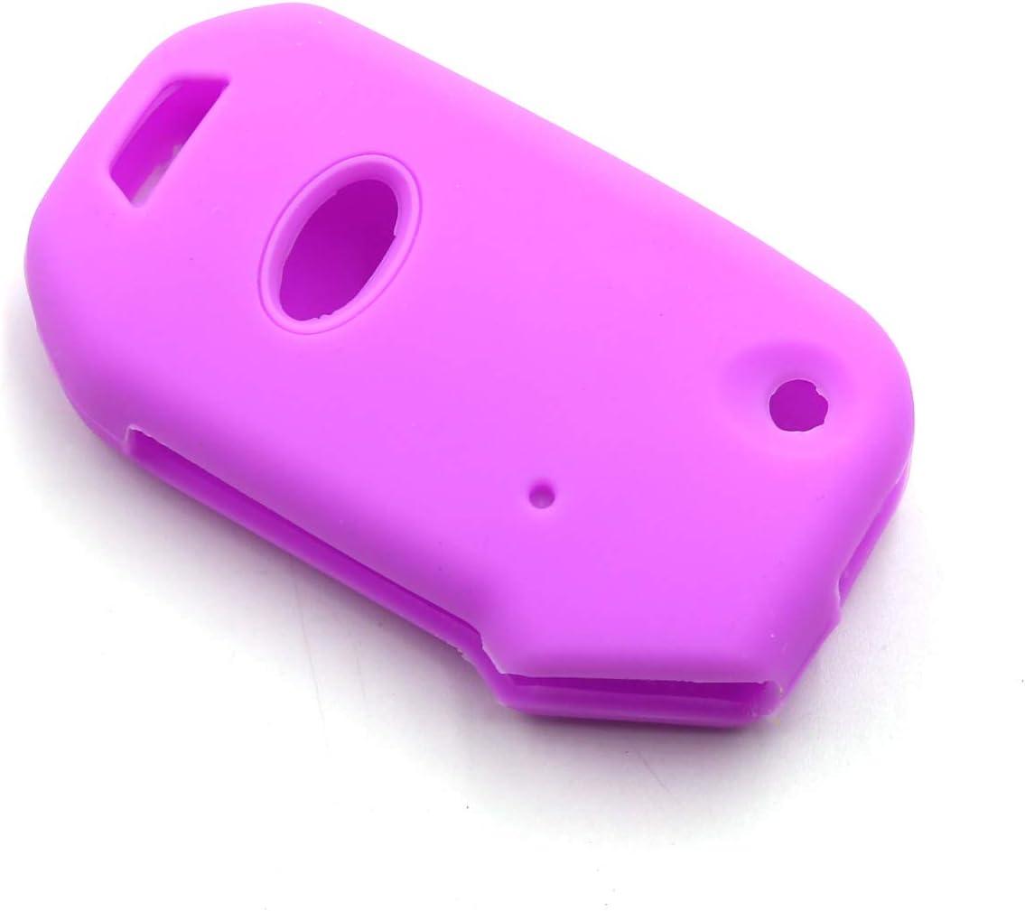 LIGHTKOREA fob Remote Flip Folding Key Case Protector Silicone Cover Compatible with Kia 2019 2020 Sportage Cerato Forte Sports GT Sorento Soul NIRO Telluride Sky