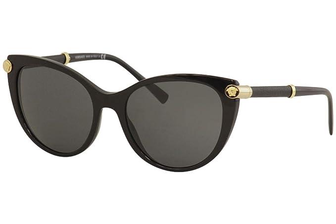 Versace 0VE4364Q Gafas de sol, Black, 55 para Mujer: Amazon ...