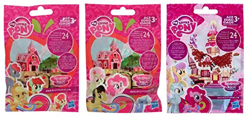 My Little Pony Friendship is Magic Wave 13 & 14 Sweet Apple Acres (Part 1 & 2) & Wave 15 Sweet Shoppe Surprise Blind Bag Mystery Pack (1 of Each) (My Little Pony The Crystal Empire Part 1)