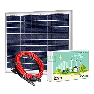 Unlimited Solar P2 Series 55 Watt 12 Volt Off-Grid Solar Panel Kit