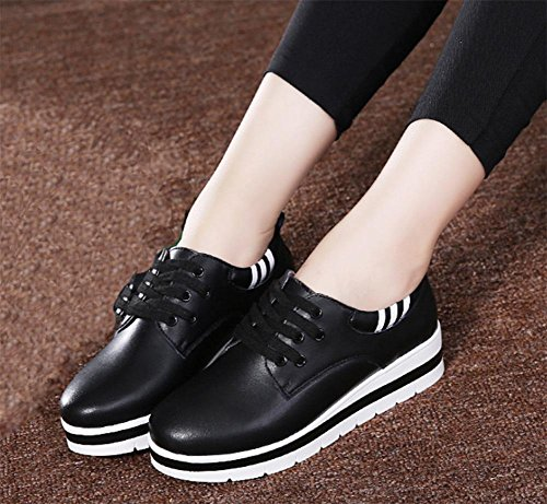 de del Ms escogen casual estudiantes de calzado mujeres los elevador UK4 5 5 los mollete US6 los grueso de zapatos Spring 7 zapatos 5 mujer CN37 EU37 las fondo 5qWtwWZ7U