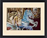 Framed Print of USA, Indiana, Indianapolis. Merry-go-round horses at the Indiana State Fair