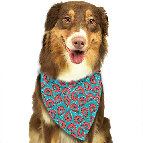 ANYWN Pet Dog Bandanas Triangle Bibs Scarfs Mantis Shrimp Accessories for Puppies Cats Pets Animals Large Size ()