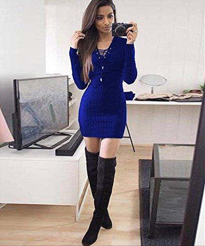 ZHUDJ Paquete De Vestir Hip Hip _ Invierno Vestidos Pit Paquete Royal Blue