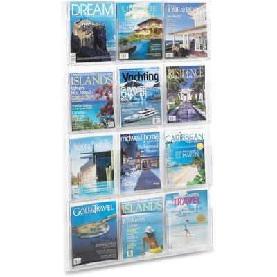 SAF5602CL - Safco 12 Pocket Magazine Display