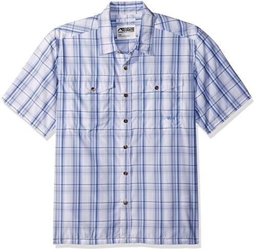 (Mountain Khakis Men's Equatorial Short Sleeve Shirt, Calypso, Small)
