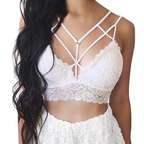 Sexy Nightgowns Lingerie Sleepshirts Bustier Crop Top Bra Shirt Vest Sexy Women Solid Lace Bralett