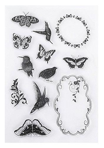 Hestio Hummingbird Garland Silicone Stamp Seal DIY Scrapbooking Album Cards Making