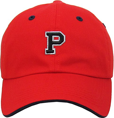 KPA-1463 RED P Alphabet Letter Dad Hat Polo Cap Adjustable