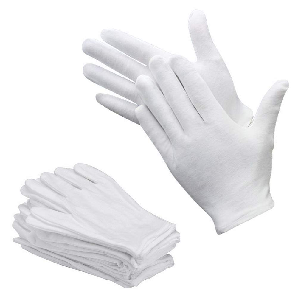 Bestgle Work Gloves, 15 Pairs White Glove Soft Cotton Working Gloves Liner for Coin Jewelry Silver Inspection, Waiter, Doorman, Police(Small)