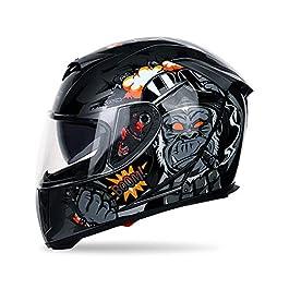 Helmet Man Full Helmet and Full Cover Cool Helmet Motorcycle Racing Helmet Full Face Motorcycle Helmet Motorcycle…