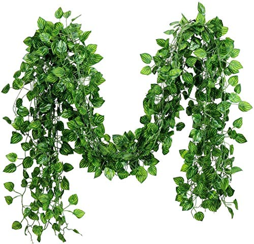 12 Pack 84Ft Artificial Fake Ivy Leaves Garland Hanging Vines Plant Artificial Plants Greenery Foliage Garland Faux Vine…