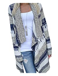 Women's Open Front Drape Irregular Knit Cardigan Sweaters Coat Winter
