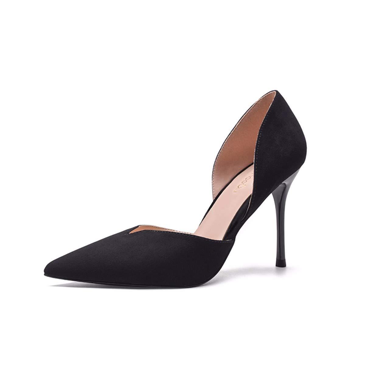 KPHY Damenschuhe/Damen - Sandalen Sexy Spitze 10Cm 10Cm 10Cm Hochhackigen Schuhe Vereiste Und Dünn Leere Tasche Füße Einheitlichen Schuhmode.37 Schwarz - ad9c5f