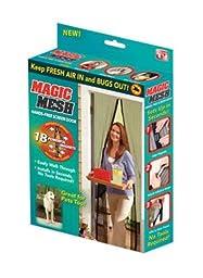 Magic Mesh MM011124 Screen Door with 18 Magnets, 83X19.5-Inch, Black
