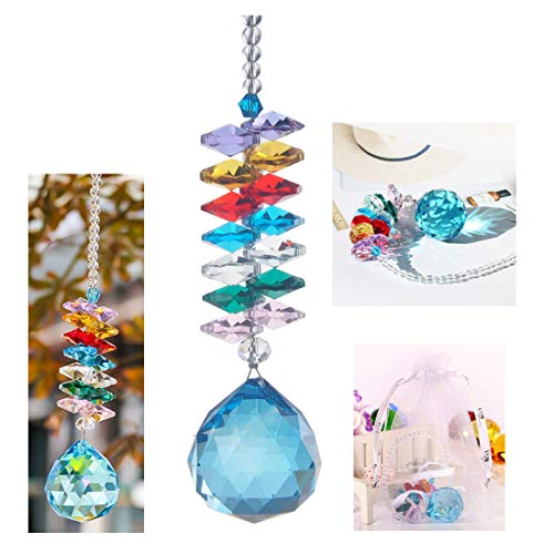 (H&D 30mm Crystal Ball Prism Rainbow Maker Collection Hanging Suncatcher Wedding Favors)