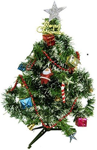 decorative bucketsmini christmas tree 1 feet christmas tree combo with 12 pc assorted