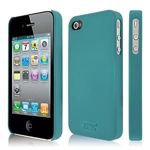 Empire Klix - Carcasa rígida fina para iPhone 4 y 4S (tacto suave), color azul verdoso