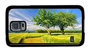 Hipster Samsung Galaxy S5 Case case mate poppies cornfied landscape PC Black for Samsung S5