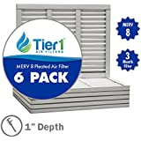 15x25x1 Dust & Pollen Merv 8 Pleated Replacement AC Furnace Air Filter (6 Pack)