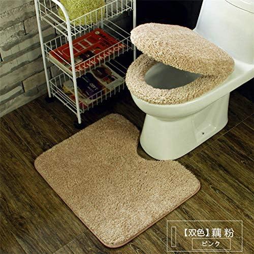 バスルーム用バスルームラグセット、スーパーソフトノンスリップカーペットセット、トイレマットバスルームマットプロファイル、フロアカーペットウォッシャブル、スリーピース,E