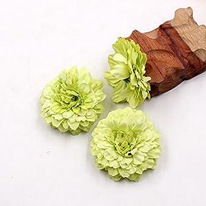 Marigold Fake Flower Heads Bulk Silk Artificial Flowers Wedding Party Decorative Flower DIY Festival Home Decor Hat Ornament Simulation Fake Flower Flower Decorative 15pcs (Multicolor) 4