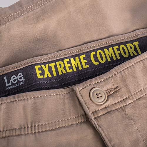 1aa2f089a3 ... 36 Lee Men's Performance Series Extreme Comfort Short, Original Khaki,  ...