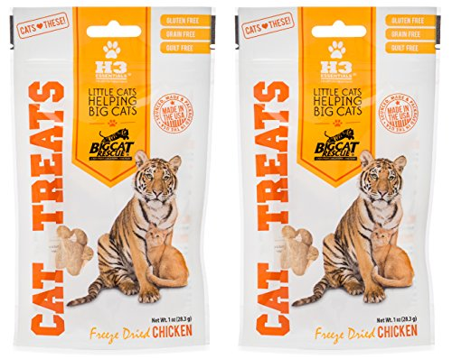 Big Cat Rescue Freeze Dried Chicken Treats for Cats (2-1oz Packages)