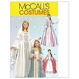 McCall's M5731 Girl's Princess Dress Halloween Costume Patterns, Sizes 3-8