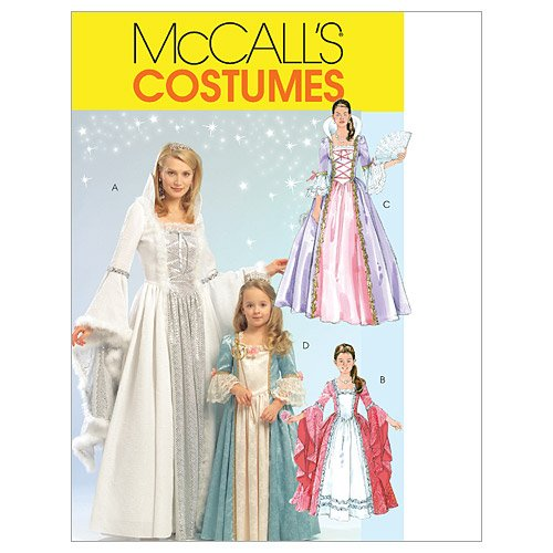 McCall's M5731 Women's Princess Dress Halloween Costume Patterns, Sizes S-XL -