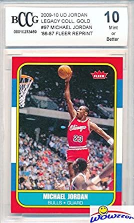 1986 Fleer Michael Jordan Rookie Replica Beckett 10 Mint