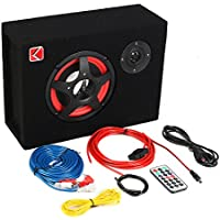 ZsMiuz K-633 6 350W Under-Seat Car Compact Subwoofer Amp Bass Speaker Powerful Audio Amplifier with Remote Subwoofer Control