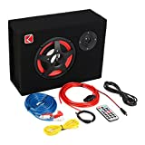 ZsMiuz K-633 6'' 350W Under-Seat Car Compact Subwoofer Amp Bass Speaker Powerful Audio Amplifier with Remote Subwoofer Control