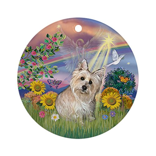 CafePress Cloud Angel-Wheaten Cairn Terrier Ornament (Round) Round Holiday Christmas Ornament