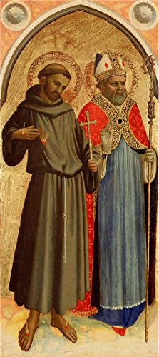 The Perfect Effect Canvas Of Oil Painting 'Italian Saint Francis And A Bishop Saint, About 1430 - 1433 By Fra Angelico' ,size: 24x54 Inch / 61x137 Cm ,this Beautiful Art Decorative Canvas Prints Is Fit For Wall Art Artwork And Home Artwork And Gifts -