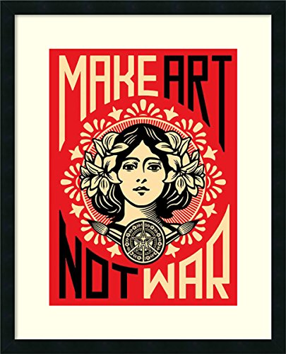 Framed Art Print, 'Make Not War' by Shepard Fairey: Outer