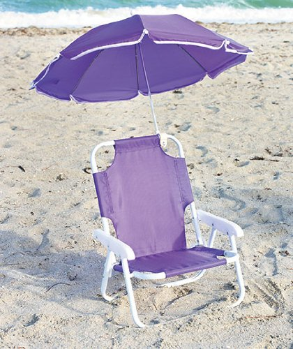 Enjoyable Amazon Com Kids Beach Chair With Adjustable Umbrella Customarchery Wood Chair Design Ideas Customarcherynet