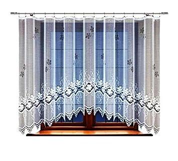 Amazonde Haft Gardine Store Vorhang Transparent Weiß