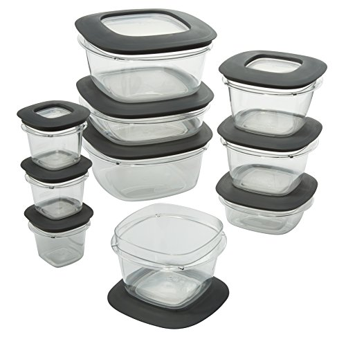 Rubbermaid Premier Easy Find Lids Food Storage Containers, Gray, Set of 20, 1937643 by Rubbermaid (Image #2)