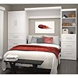 Queen Wall Bed Kit in White
