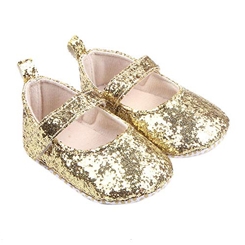 UROSA Toddler Girl Soft Sole Crib Shoes Sequins Sneaker Baby Shoes,Best Shoes for Baby Start Walking (Jordan New Shoes Baby)
