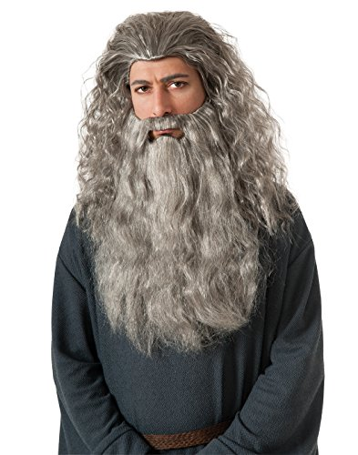 Price comparison product image Rubie's Costume The Hobbit Gandalf Beard Kit, Gray, One Size