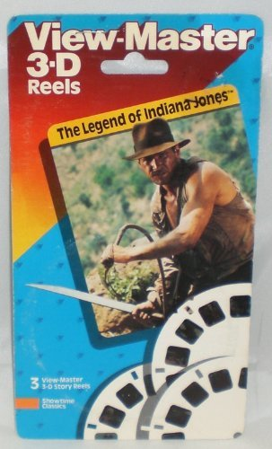 The Legend of Indiana Jones View-Master 3 Reel Set - 21 3d Images - Harrison Ford - Lucasfilm LTD by View Master