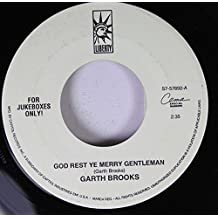 Garth Brooks 45 RPM God Rest Ye Merry Gentlemen / White Christmas