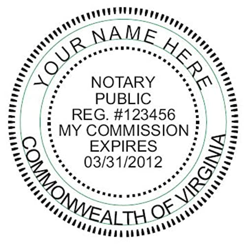 NEW IMPRUE Round Self Inking NOTARY SEAL RUBBER STAMP