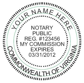 NEW IMPRUE Round Self-Inking NOTARY SEAL RUBBER STAMP - Virginia