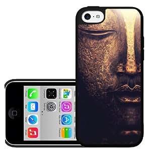 Golden Buddha Face Art Hard Snap on Phone Case (iPhone 5c)