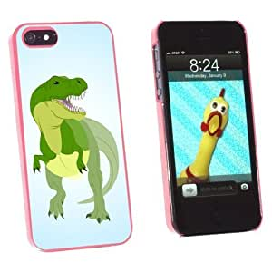 Graphics and More Tyrannosaurus Rex - T Rex Dinosaur Raptor Snap-On Hard Protective For HTC One M7 Phone Case Cover - Non-Retail Packaging - Pink