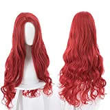 magic acgn Long red For Women Anime Cosplay Wig fashion Curly Christmas Wig