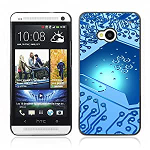 Hot Style Cell Phone PC Hard Case Cover // V0000800 PCB Digital Circuit //HTC ONE M7